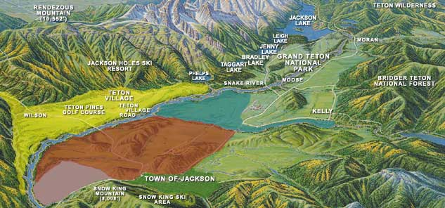 Jackson Hole Real Estate Investments Map of Jackson Hole