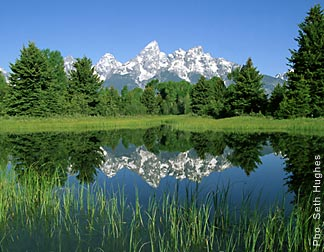 The Grand Teton Mountains from Jackson Hole